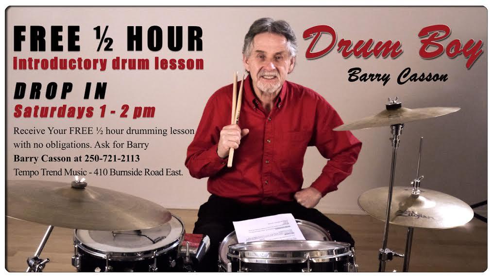 Barry Casson, music teacher, drums, drumming, Victoria, British Columbia Canada
